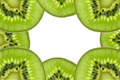 Kiwi owoc, Zamyka w górę pokrojonego kiwi abstrakcjonistycznego tła, Makro- widok Obrazy Stock