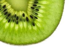 Kiwi owoc, Zamyka w górę pokrojonego kiwi abstrakcjonistycznego tła, Makro- widok Obraz Stock