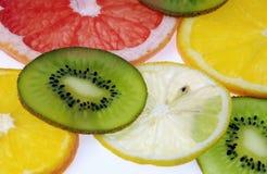 Kiwi, pamplemousse, orange, citron Image libre de droits