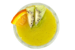 Kiwi and passionfruit cocktail Royalty Free Stock Photography