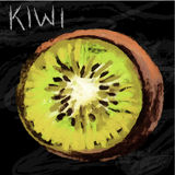 Kiwi pastel Royalty Free Stock Images