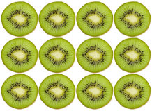 Kiwi pattern. Over white, computer edited Royalty Free Stock Photo