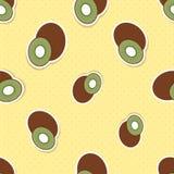 Kiwi pattern. Seamless texture with ripe Kiwi Royalty Free Stock Photo