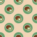 Kiwi pattern. Seamless texture with ripe Kiwi Royalty Free Stock Photos