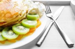 Kiwi peach pancake Royalty Free Stock Photo