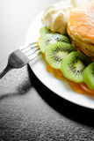 Kiwi peach pancake Royalty Free Stock Image
