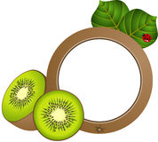 Kiwi Photo Frame. Scalable vectorial image representing a kiwi photo frame, isolated on white Stock Images