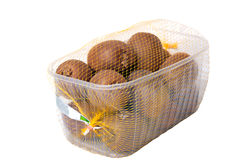 Kiwi in plastic box Royalty Free Stock Images