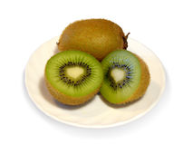 Kiwi on a plate Royalty Free Stock Photography