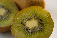 Kiwi with on plate Stock Image