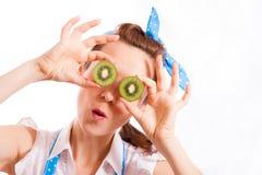Kiwi pour des yeux Photos libres de droits
