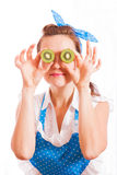 Kiwi pour des yeux Photo stock