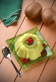 Kiwi pudding with currants Stock Image