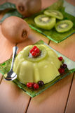 Kiwi pudding with currants Royalty Free Stock Photography