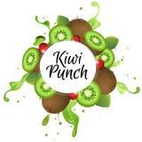 Kiwi punch. Splash, additional file in eps 10 file Stock Photography