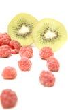Kiwi and raspberry Royalty Free Stock Photography