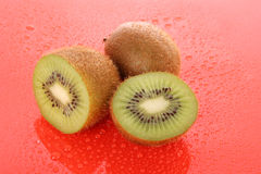 Kiwi on red Royalty Free Stock Photography