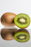 Kiwi reflected Royalty Free Stock Photos