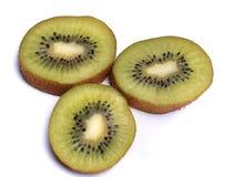KIWI, reife, saftige Frucht, lokalisiert auf weißem, Makro Lizenzfreies Stockfoto