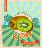 Kiwi retro poster Stock Photos