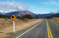 Kiwi road sign stock images