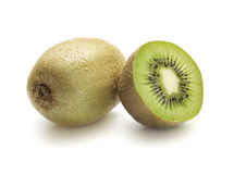 Kiwi's one sliced in halve Royalty Free Stock Images