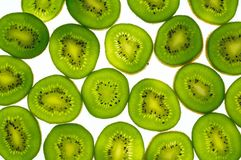 Kiwi's slices. On white background Stock Photo