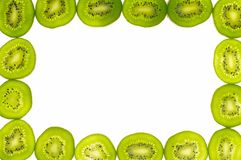 Kiwi's slices. On white background Stock Photos
