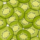 Kiwi seamless pattern Stock Photos