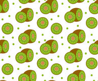 Kiwi seamless pattern. Kiwifruit endless background, texture. Fruits backdrop.. Vector illustration Royalty Free Stock Photo