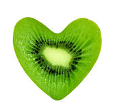 kiwi serca Zdjęcie Royalty Free