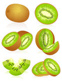 Kiwi set Stock Photos