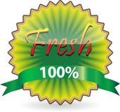 Kiwi shape Fresh label Stock Image
