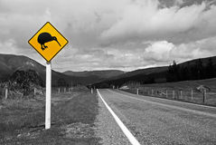 Kiwi sign Black&White Royalty Free Stock Photos
