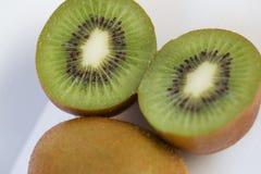 Kiwi skivade segment Arkivbild