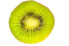 Kiwi slice. On white background Royalty Free Stock Images