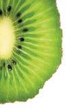 Kiwi Slice Cut Texture detaljerad makroCloseup, isolerat vertikalt kopieringsutrymme Arkivfoton