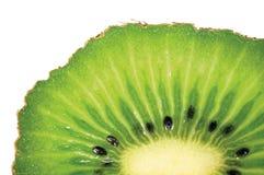 Kiwi Slice Cut Texture, modelo texturizado primer macro horizontal detallado grande, fruta madura fresca Fotografía de archivo