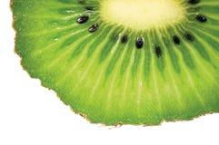 Kiwi Slice Cut Texture, primer macro detallado grande, concepto maduro fresco de la fruta, espacio horizontal de la copia Imágenes de archivo libres de regalías