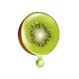 Kiwi slice with droplet  Royalty Free Stock Photos