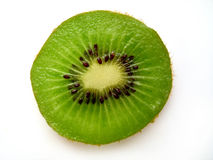 Kiwi Slice II. A single kiwi slice royalty free stock photos