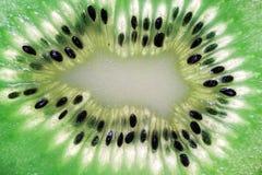 Kiwi slice - macro Stock Photos