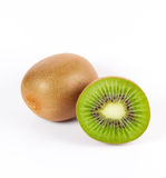 Kiwi slice and one whole kiwi Royalty Free Stock Photo