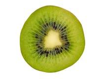 Kiwi Slice op Wit royalty-vrije stock afbeeldingen