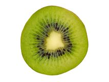 Kiwi Slice su bianco immagini stock libere da diritti