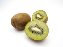 Kiwi sliced in half on white blackground. For artwork Royalty Free Stock Photography