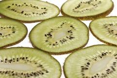 Kiwi slices. On white background Royalty Free Stock Image