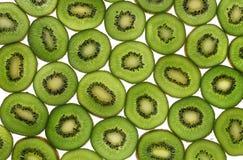 Kiwi slices. On white background Royalty Free Stock Photos