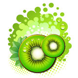Kiwi slices Royalty Free Stock Images