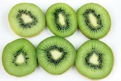 Kiwi Slices. Six Kiwi Slices on white Royalty Free Stock Image